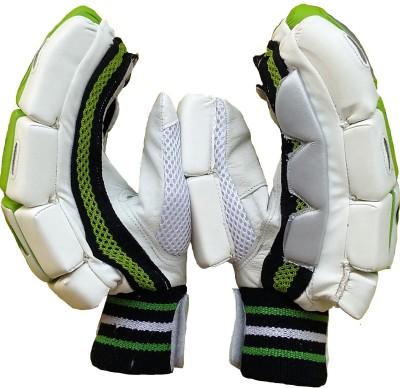 VSP Instinct Batting Gloves (Men, White, Green)