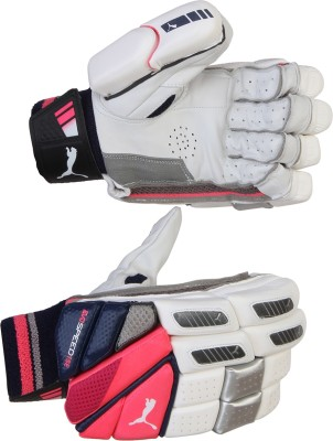 Puma EVO SPEED 5000 Batting Gloves (Men, White, Red)