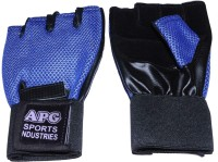 APG Power Gym & Fitness Gloves (L, Black, Blue)