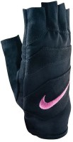 Nike Women's Vent Tech Training Gym & Fitness Gloves (L, Black, Pink)