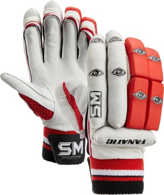 SM Fanatic Batting Gloves (Men, White, Multicolor)