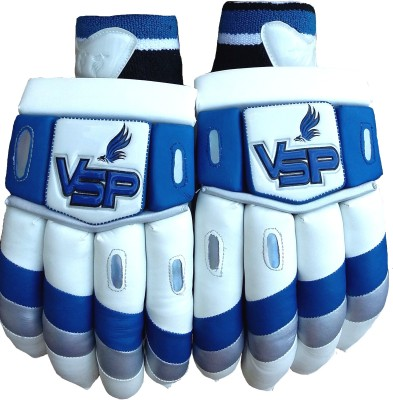 VSP Esteem Batting Gloves (Men, White, Blue)