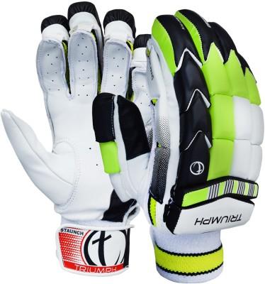 Triumph Staunch Batting Gloves (Men, White, Black, Green)
