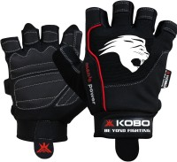 Kobo Gel Gym & Fitness Gloves (L, Black)