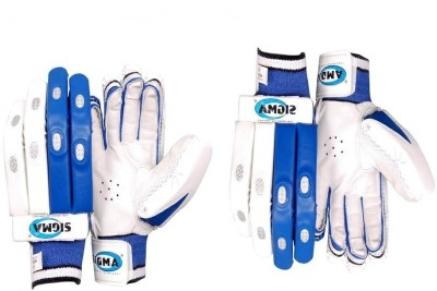 Sigma Platinum Batting Gloves (M, White)
