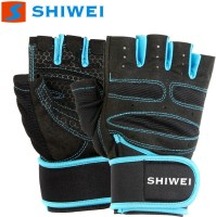 SPOFIT Shiwei Blue S Gym & Fitness Gloves (S, Black, Blue)