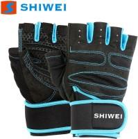 SPOFIT Shiwei Blue S Gym & Fitness Gloves (S, Black, Blue)