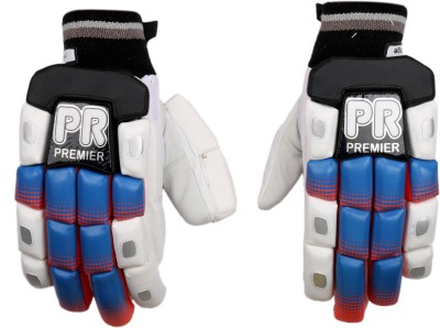 PR ARGBG02 Batting Gloves (M, White, Blue, Black)