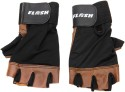 Flash Pro Leather Gym & Fitness Gloves - L, Black, Brown