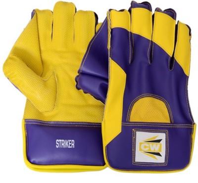 CW Striker Wicket Keeping Gloves (Men, Yellow, Purple)