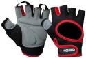 Kobo Training Gym & Fitness Gloves - S, Black, Red