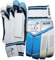 APG Elite Batting Gloves (M, White, Blue)