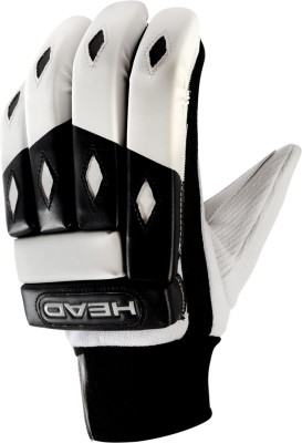 Head Stroke Batting Gloves (L, Black, White)