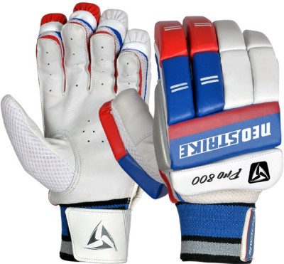 Neo Strike PRO800 Batting Gloves (Men, White, Blue, Red)