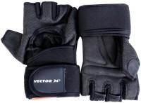 Vector X VX-500 Gym & Fitness Gloves (L, Black)