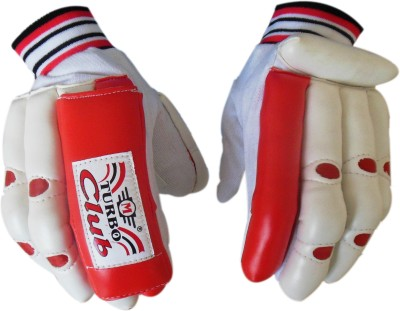Turbo CLUB Batting Gloves (Boys, White, Red)
