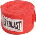 Everlast 180 Inch Hand Wraps Boxing Gloves (M, Red)
