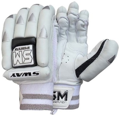 SM Sway Batting Gloves (Men, Grey, White, Multicolor)