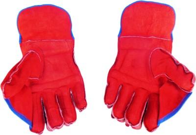 Turbo CLUB (Full Samber) Wicket Keeping Gloves (Men, Red, Blue)