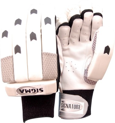 Sigma Signature 2 Batting Gloves (M, White)