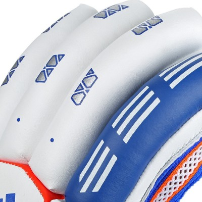 Adidas BG VECTOR V1 16 Batting Gloves (M, White, Blue, Red)
