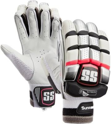 SS Aerolite Batting Gloves (Men, White, Red)