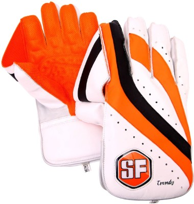 Stanford Trendy Wicket Keeping Gloves (Men, White, Black)