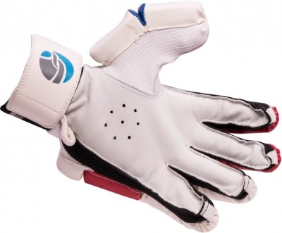 FLX Cestus Classic R1 Batting Gloves (Men, White, Red)