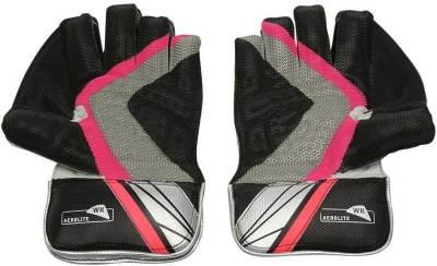 SS Aerolite Wicket Keeping Gloves (Men, Black)