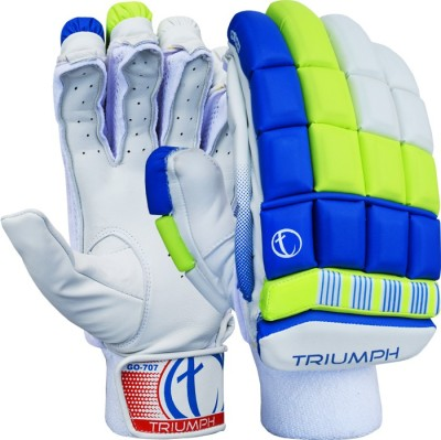 Triumph 707 Batting Gloves (Men, White, Blue, Green)