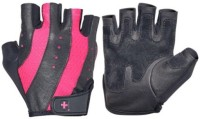 Harbinger Fitness Womens Pro Wash & Dry Gym & Fitness Gloves (M, Black, Pink)