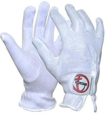 Triumph Batting Batting Gloves (Free Size, White)