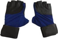 CP Bigbasket Sheep Leather Blue & Black Gym & Fitness Gloves (Free Size, Blue, Black)