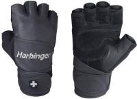 Harbinger Classic Wrist Wrap Gym & Fitness Gloves (XXL, Black)