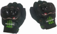 Monster Biker Riding Gloves (Free Size, Black)