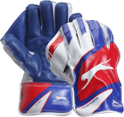 Slazenger Pro Wicket Keeping Gloves (M, White)
