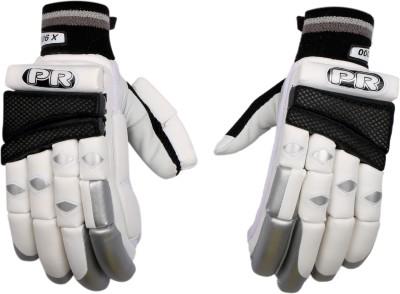PR ARGBG03 Batting Gloves (M, White, Silver, Black)