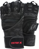Vector X VX-2100 Gym & Fitness Gloves (XL, Black)