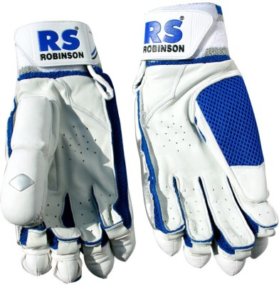 RS Robinson The Blaster Batting Gloves (Men, White, Blue)