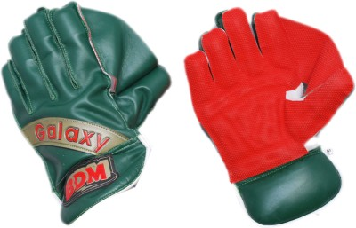 BDM Galaxy Wicket Keeping Gloves (Men, Red, Green)