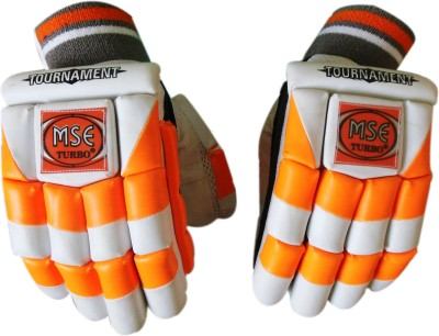 Turbo TOURNAMENT Batting Gloves (Men, White, Orange)