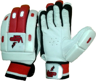 VSP Brio Batting Gloves (Men, White, Red)