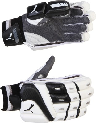 Puma EVO POWER BLACK EDITION Batting Gloves (Men, White, Black)