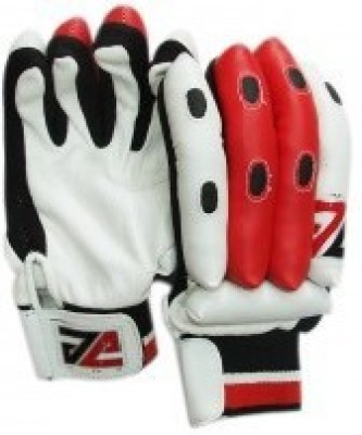 JE Sports Club Batting Gloves (M, White, Red)