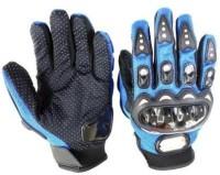 Motoway Pro Bike Full Racing Biking Driving Motorcycle 05 Riding Gloves (XL, Blue)
