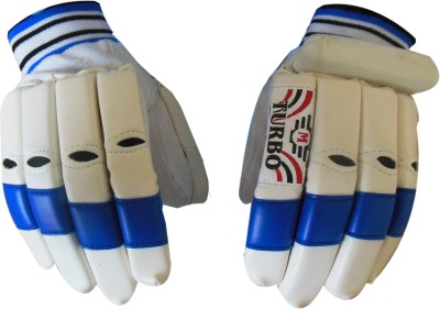 Turbo CENTURY Batting Gloves (Men, White, Blue)