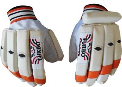 Turbo CENTURY Batting Gloves (Men, White, Orange)