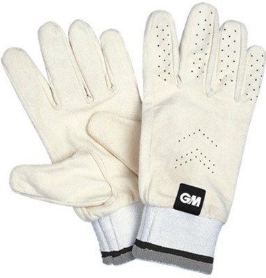 GM Full Chamios Batting Gloves (Men, White)