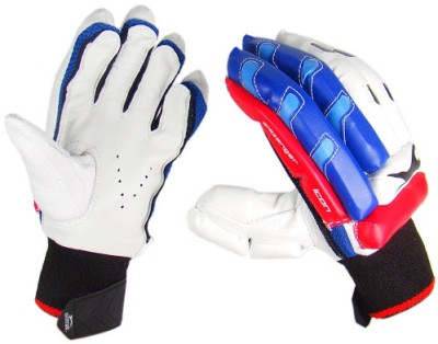 Slazenger Classic Icon Mens Batting Gloves (L, White, Blue)