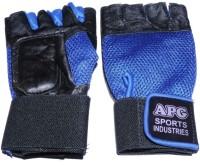 APG Net Blue Gym & Fitness Gloves (L, Black, Blue)